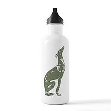 GreyhoundTornEdges Water Bottle