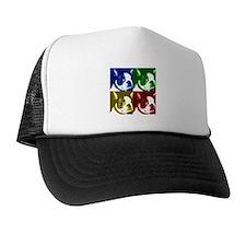 Pop Art Boston Terrier Trucker Hat