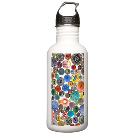 Buttons 7.5 x 10.8 Stainless Water Bottle 1.0L