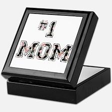 #1 Mom floral Keepsake Box