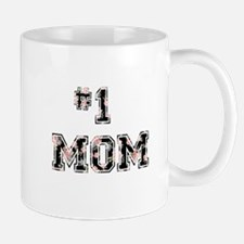 #1 Mom floral Mugs