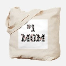 #1 Mom floral Tote Bag