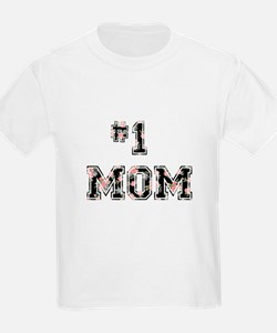 #1 Mom floral T-Shirt