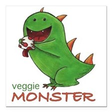 "monster Square Car Magnet 3"" x 3"""