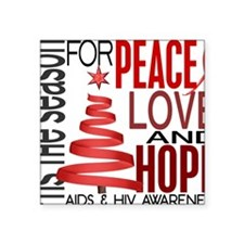 "D AIDS Square Sticker 3"" x 3"""