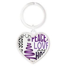 D Alzheimers Heart Keychain