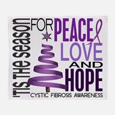D Cystic Fibrosis Throw Blanket