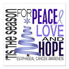 "D Esophageal Cancer Square Car Magnet 3"" x 3"""