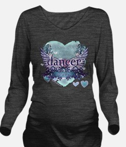 Dancer Forever by Da Long Sleeve Maternity T-Shirt
