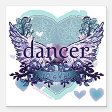 "Dancer Forever by DanceS Square Car Magnet 3"" x 3"""