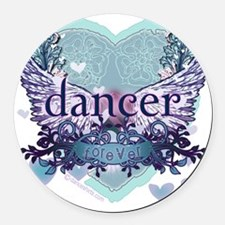 Dancer Forever by DanceShirts.com Round Car Magnet