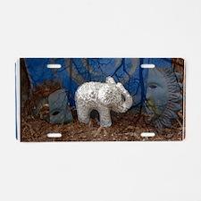 ElephantImage Aluminum License Plate