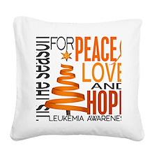 D Leukemia Square Canvas Pillow