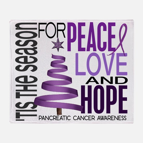 D Pancreatic Cancer Throw Blanket