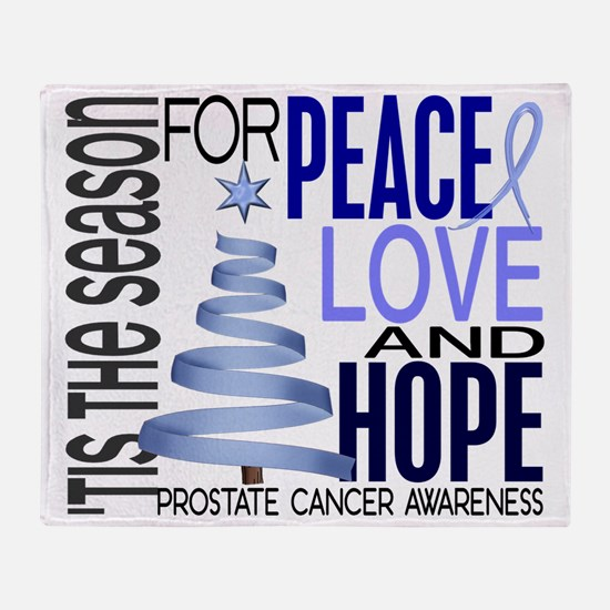 D Prostate Cancer Throw Blanket