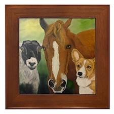 Sarahs Pets 3 Framed Tile