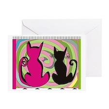 cat puzzle 4 Greeting Card