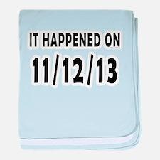 11/12/13 baby blanket