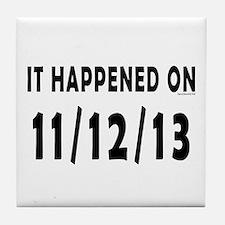 11/12/13 Tile Coaster