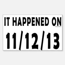 11/12/13 Decal