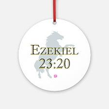 Ezekiel-horse-design-1 Round Ornament
