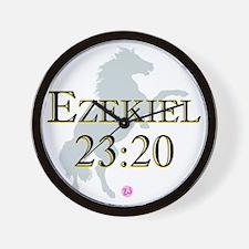 Ezekiel-horse-design-1 Wall Clock