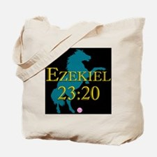 Ezekiel-horse-design-1-black-version Tote Bag