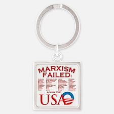 MarxismFailed_trans Square Keychain