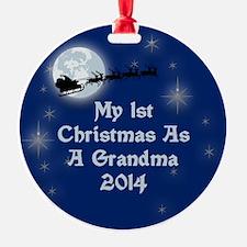 1St Christmas As A Grandma 2014 Ornament