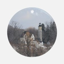 Old Fort Light Ornament (Round)