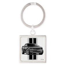 camarogray Square Keychain