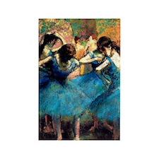 K/N Degas Blue Dancers Rectangle Magnet
