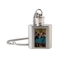 K/N Degas Blue Dancers Flask Necklace