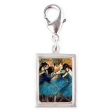 K/N Degas Blue Dancers Silver Portrait Charm