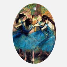K/N Degas Blue Dancers Oval Ornament
