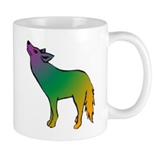 Rainbow Coyote Mug