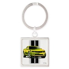 camaroyellow Square Keychain