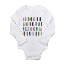 Surfboards Long Sleeve Infant Bodysuit