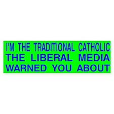 Traditional Catholic & Liberal Media Auto Car Sticker