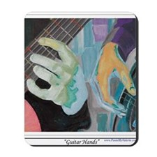 Guitar Hands c shirt Mousepad