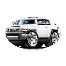 Fj Cruiser White Car Oval Car Magnet