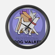 DOGwalker Large Wall Clock