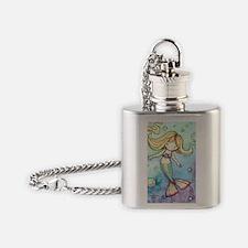 aceo cutie mermaid 2 Flask Necklace