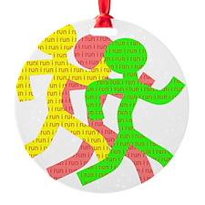 iRun_Figure_RedLetters_ThreeRunners Ornament