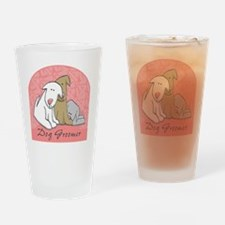 DOGwalkergroomerPINK Drinking Glass