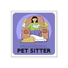 "PETsitter Square Sticker 3"" x 3"""