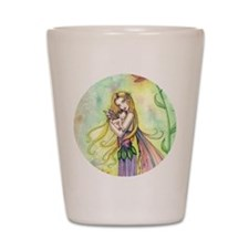 Mother and Baby Fairy Art by Molly Harr Shot Glass