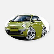 Fiat 500 Olive Car Oval Car Magnet