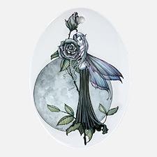 Midnight Rose Fairy Fantasy Art by Ornament (Oval)