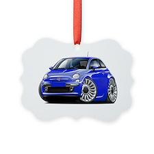 Fiat 500 Blue Car Ornament